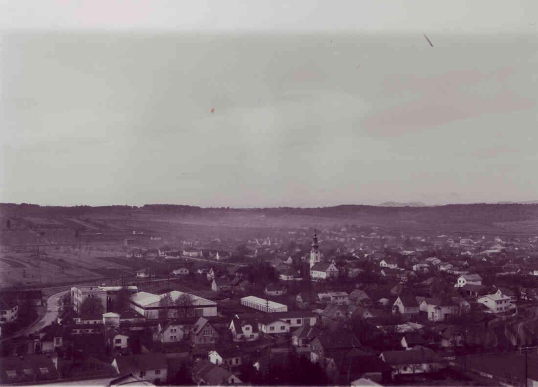 Blick vom Hochhaus in Richtung Westen