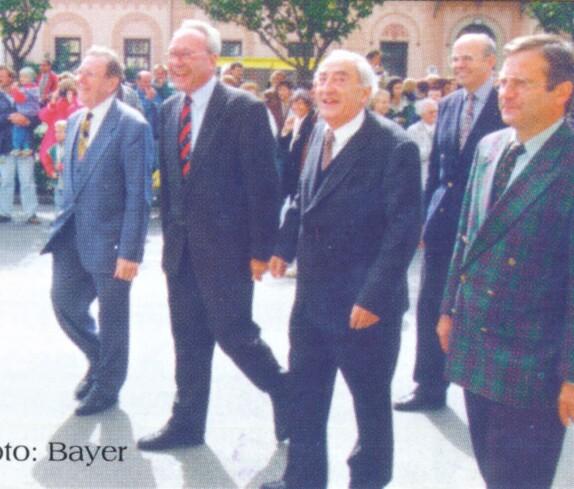 Gautschfeier: einige der Ehrengäste